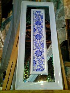 MAVİ BEYAZ Turkish Tiles, Madhubani Painting, Tiles Texture, Love Blue, Hand Painted Ceramics, Tile Art, Stoneware, Mosaic, Porcelain