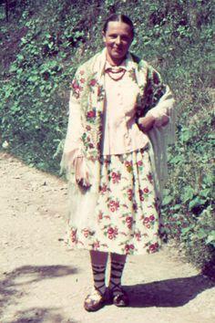 Polish Goral from Zakopane wearing Podhale's folk costume (1938).