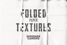 A set of 10 free high resolution folded paper textures. Each texture is A4 page size and 300dpi resolution, making them great for use in print projects.