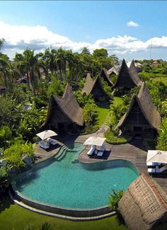 Own Villa Bali Indonesia Bali Architecture, Tropical Architecture, Amazing Architecture, Beach Resorts, Hotels And Resorts, Resort Villa, Wooden House, Tropical Houses, Dream Vacations