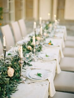 Greenery tablescape: