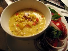 Corn Chowder - corn, cream, bacon and butter - sounds Southern to me!