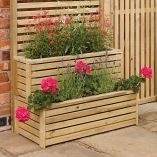 Buy Garden creations outdoor tiered planter - Stackable wooden planters to make the most of smaller spaces: Delivery by Crocus Small Garden On A Budget, Small Garden Fence, Small Courtyard Gardens, Wooden Garden Planters, Wooden Planter Boxes, Small Courtyards, Small Backyard Landscaping, Small Space Gardening, Diy Planters