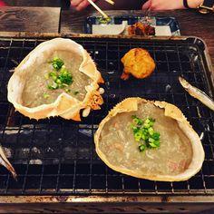Grilled crab innards #food #foodie #instafood #foodgasm #foodgram #foodporn #foodstagram #seafood #crab #yum #yummy #yumyum #tasty #delish #delicious #goodeats #good #picoftheday #instagramers #innards #eat #eeeeeats #美味しい #食 #hungry #photooftheday #grilling