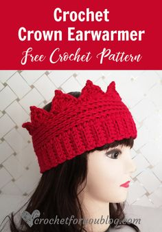 Crochet Headband Crochet Crown Earwarmer Free Pattern - Make your own Crown Ear warmer not just for fun but keep your ears warm in the cool weather. This pattern can be easily adjusted to any size. Crochet Winter, Crochet For Kids, Easy Crochet, Crochet Hooks, Free Crochet, Knit Crochet, Crochet Panda, Ravelry Crochet, Crochet Granny