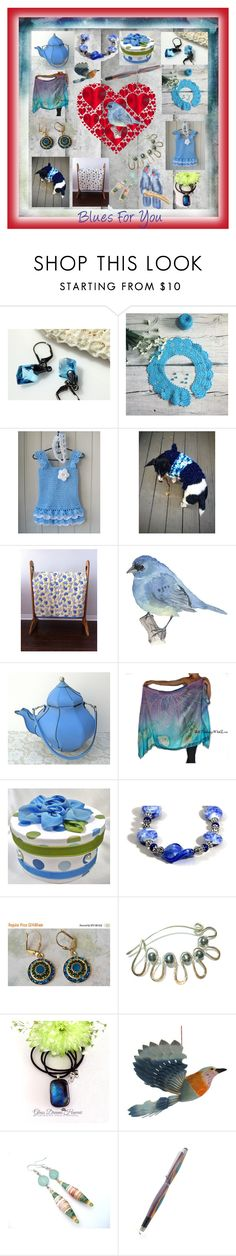 """Blues For You!"" by sylvia-cameojewels ❤ liked on Polyvore featuring Corgi"