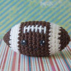 Second down and 3 rows to go! Crochet Amigurumi •Football • Kawaii •DIY Pattern •Free Pattern