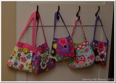 Sewing with Rascal: Little Girl Purses