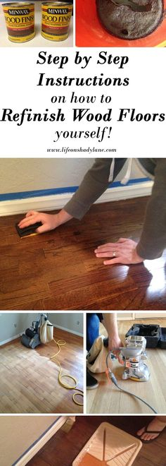 How to Refinish Hardwood Floors Yourself via Life on Shady Lane blog. DIY Hardwood floors. How to stain your floors.