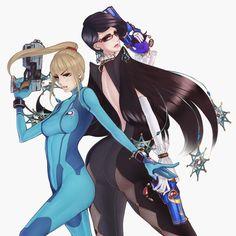 Bayonetta and Zero Suit Samus by Lucas