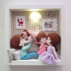 Rock Crafts, Felt Crafts, Diy And Crafts, Crafts For Kids, Quilling Dolls, Baby Frame, Felt Decorations, Felt Patterns, Felt Toys