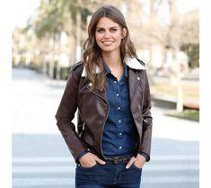 Sako s imitáciou kožušiny Jeans, Leather Jacket, Jackets, Style, Design, Fashion, Fall Winter Fashion, Fashion Ideas, Leather