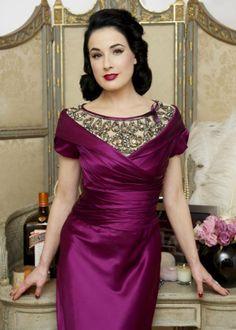 Dita Von Teese-Purple Dress