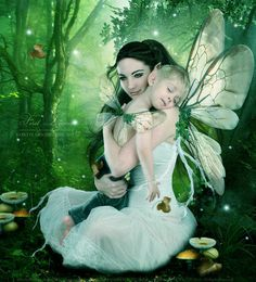 Mother and baby fairies