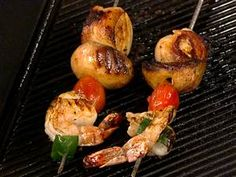 Surf and turf: Try bacon-wrapped scallops and shrimp skewers
