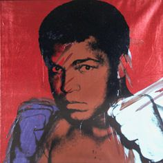 Muhammad Ali, 1977-79 | Andy Warhol (American, 1928-1987) | Silkscreen and polymer paint on canvas. 40 x 40 in. (101.6 x 101.6 cm). On stretcher, unframed.