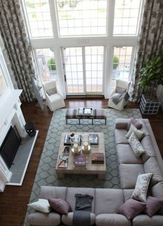 Family room, sectional + colors