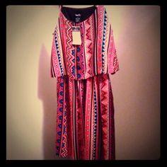 Tribal dress NWT Rue 21 Rue 21 sundress with adjustable spaghetti straps.  NWT size small. Rue 21 Dresses Mini