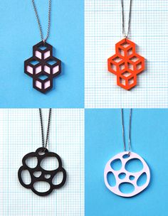 Modern paper pendants are definitely my current jewelry crush. Check out this DIY cut paper pendants project from Jessica at How About Orange, and get a Paper Jewelry, Paper Beads, Jewelry Crafts, Origami, Paper Cutting, Cut Paper, Paper Toy, Laser Cut Jewelry, Diy Papier