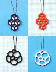 More DIY cut-paper pendants | How About Orange @Kari Wilson cricut = jewelry Jewelry Crafts, Paper Jewelry, Paper Beads, Laser Cutting, Silhouette Cutter, Silhouette Machine, Paper Toy, Cut Paper, Shrink Film