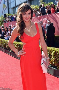 Katie Cleary Is A Vision In Red