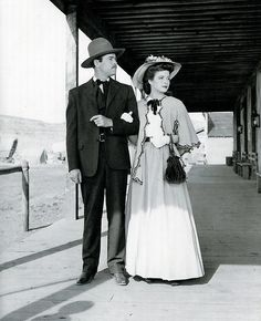MY DARLING CLEMENTINE (1946) - Henry Fonda & Cathy Downs head to Sunday church service - Directed by John Ford - 20th Century-Fox - Publicity Still.