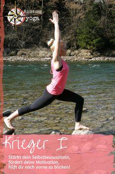 #positivdenken #asana #krieger1 #yoga #richtungyoga Yoga Krieger, Stress Management, Motivation, Asana, Running, Blog, Self Awareness, First Aid, Keep Running