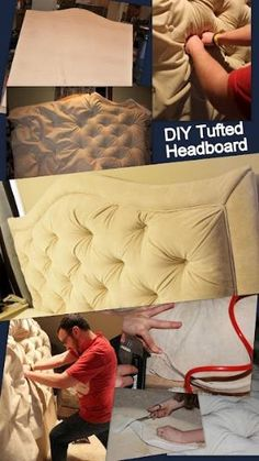 How to make a gathered tufted headboard! by renato.machado.3511