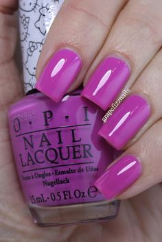 Super Cute in Pink, OPI Hello Kitty Collection on grape fizz nails blog