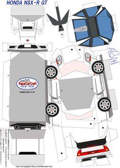 SP. Papel Modelismo: PaperCraft - Honda NSX-R GT