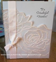 Stampin' Up! Vellum and Glitter for Mothers Day