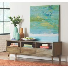 Home Decorators Collection Conrad 67 in. W Antique Natural TV Stand-7762000950 - The Home Depot