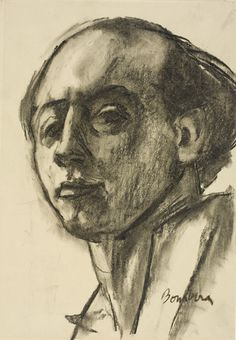 Charcoal Drawings David Bomberg - Self portrait - Charcoal on paper - Towner Gallery, Eastbourne Portrait Sketches, Drawing Sketches, Drawing Designs, Portrait Paintings, Drawing Ideas, Love Drawings, Beautiful Drawings, Easy Drawings, Pencil Drawings