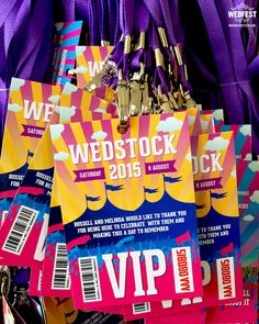 Russell and Melinda's Wedstock Festival Wedding Programmes http://www.wedfest.co/russell-and-melindas-wedstock-festival-wedding/