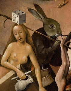 "Hieronymus Bosch ""The Garden of Earthly Delights"" (Detail):  If I had a nickel for everytime I found myself in this situation..."