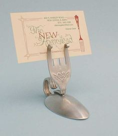 re-wrought silverware - placeholder (this could also double as a chic take-home gift)