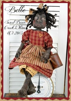 Sweet Bear Creek Whims Happenings...: Tutorial ~ How To Paint A Black Doll
