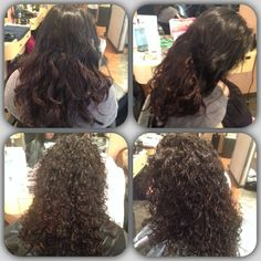 spiral perm before and after