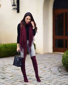 . Spring Work Outfits, Casual Summer Outfits, Stylish Outfits, Fashion Outfits, Winter Outfits, Maroon Shoes Outfit, Burgundy Outfit, Alternative Mode, Alternative Fashion
