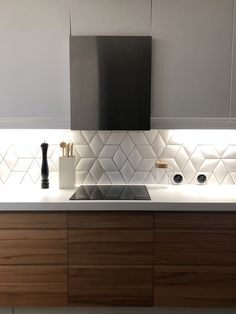 Diamond tiles Camille Flammarion X Normandy Ceramics Project and 📸 Maud Ble . - Carreaux Losanges Camille Flammarion X Normandy Ceramics Project and 📸 Maud Blerot architect - Kitchen Interior, Interior Design Living Room, Living Room Designs, Living Room Decor, Kitchen Cabinets And Countertops, Small Kitchen Cabinets, Minimal Kitchen Design, Diy Kitchen Decor, Home Decor