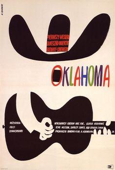 Affiche-cinema-oklahoma-vintage-polish-poster-1964-witold-janowski-rocket-lulu