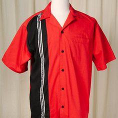 Cruisin USA Hilton Striker Bowling Shirt available in Med XXL XXXL #retro #mensfashion #valentinesday