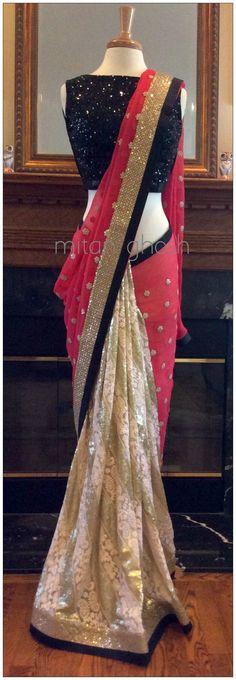 Fancyyy how to drape wear sari saree Patiala Salwar, Anarkali, Lehenga Choli, Bollywood Sarees Online, Bollywood Fashion, Indian Dresses, Indian Outfits, Collection Eid, Indische Sarees