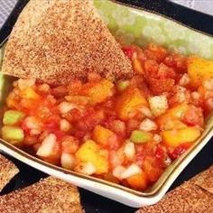 Low Carb Fruit Salsa on BigOven: A fruit-based salsa with a Sweet-Hot twist. Diabetic Friendly as well. This versatile dish can be an appetizer, snack, or dessert.