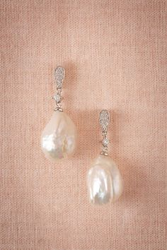 Pearl Luster Drops from @BHLDN