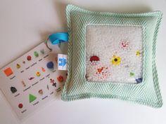 Woven Wrap Scrap I Spy Bag  Didymos Didy Lisca by BlueHouseBabies