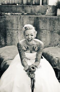 17 Stunning Brides With Tattoos 17