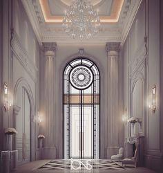 Our Latest Grand lobby design - Al Ain - UAE Classic Interior, Modern Interior, Interior Architecture, Classic Architecture, Interior Design Dubai, Interior Design Companies, Design Package, Hotel Lobby Design, Home Decoracion