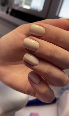 Chic Nails, Classy Nails, Simple Nails, Trendy Nails, Solid Color Nails, Nail Colors, Nude Nails, Nail Manicure, Pretty Gel Nails