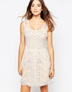 Free People Embellished Skater Dress